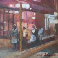 Margie-Johnson-Last-Bus-Coming-Commended-Oil