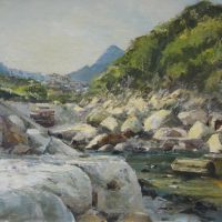 Bill Brown Hout Bay Rivulet Acrylic