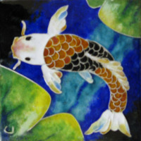 Brian Johnson Koi Mixed Media