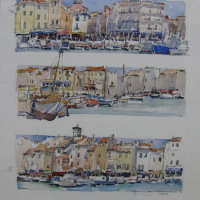 June Hofmeyr Cassis Watercolour