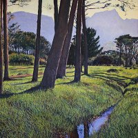 Lolly Hahn-Page | Devils Peak through the Pines | Commended Oil