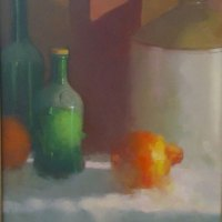 Fanie-le-Roux-FSASA---Green-Bottle---Oil---Highly-Commended