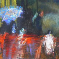 Lyn-Northam-FSASA---Dash-in-the-Rain---Pastel---Commended