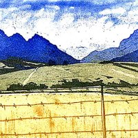 Marilyn-Southey---Near-Franschhoek---Etching---Highly-Commended