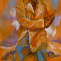 Sharma-Fenton---Yellow-Ochre-People-I---Acrylic---Commended