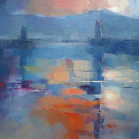 Wyn-Rossouw----Kalk-Bay-Harbour-Spring-Sunrise-Oil---Highly-Commended