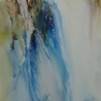 Penny Steynor Falling Water Mixed Media