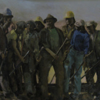 Shelly Banfield Men at Work Oil