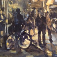 Helen van Stolk FSASA | First Thursdays Lights | Commended Oil