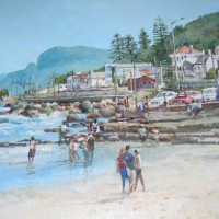 Bill-Brown-FSASA-Surfers-Corner-Muizenberg-Acrylic-Highly-Commended