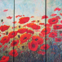 Minnie-Gerber-Poppy-Field-Oil-Highly-Commended