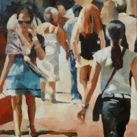 Helen-van-Stolk---Hot-in-the-City---Oil---Highly-Commended