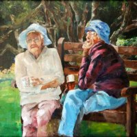 Liz-Pearson---Tea-at-Kirstenbosch-Oil---Commended