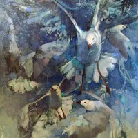 Laura-Wenman-Flight-Path-(birds)-Oils-Awarded-Commended